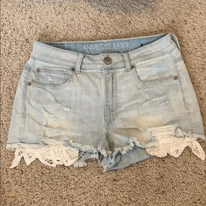 American Eagle Light Wash Jean Shorts